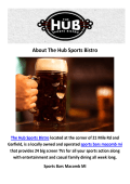 The Hub Sports Bistro : Sports Bars Macomb MI