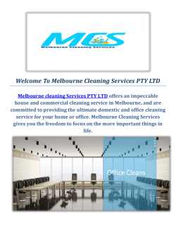 Professional Cleaners | Melbourne Cleaning Services PTY LTD