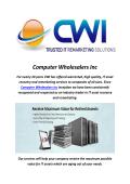 Computer Wholesalers Inc : It Asset Remarketing