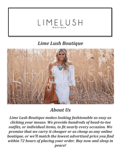 Lime Lush Boutique: Boutique Dresses