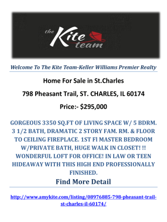 798 Pheasant Trail, ST. CHARLES, IL 60174 : St.Charles Homes for Sale by The Kite Team-Keller Williams Premier Realty