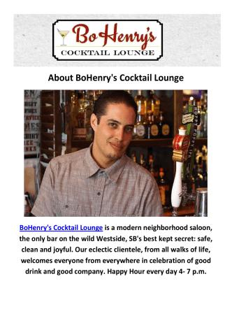 BoHenry's Cocktail Lounge Bar Santa Barbara