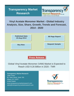 Vinyl Acetate Monomer Market - Global Industry Analysis, Forecast, 2014 – 2020