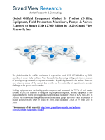 Oilfield Equipments Market Forecast up to 2020