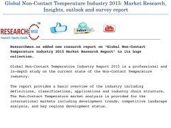 Global Non-Contact Temperature Industry 2015 Market Research Report