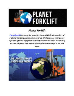 forklifts used for sale