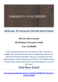 995 Whitakers ln Sarasota FL 34236 : Sarasota Homes For Sale by Sarasota Florida Real Estate