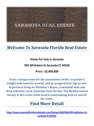 995 Whitakers ln Sarasota FL 34236 : Sarasota Homes For Sale by Sarasota Florida Real Estate