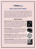 Chevy Auto Parts Online