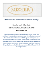 1018 Bauhinia Road, Delray Beach, FL 33483 : Delray Beach Waterfront Homes for Sale by Mizner Residential Realty