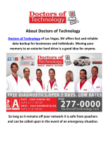 Doctors of Technology Data Recovery in Las Vegas
