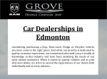 Car Dealerships in Edmonton