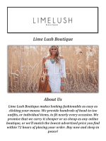 Lime Lush Boutique: Boutique Dresses for Women