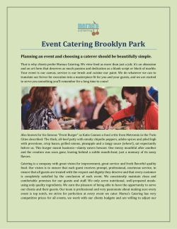 Event Catering Brooklyn Park