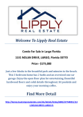 1131 NOLAN DRIVE, LARGO, Florida 33770 : Condos For Sale Largo Florida By Lipply Real Estate