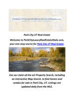 Park City Luxury Real Estate, UT
