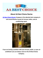 AA Best Choice HVAC in Racine