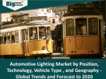Automotive Lighting Market by Position , Technology , Vehicle Type  , and Geography - Global Trends and Forecast to 2020