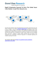 Smart Cities  Market Outlook and Forecast up to 2020: Grand View Research, Inc.