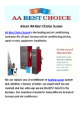 AA Best Choice Heating in Sussex