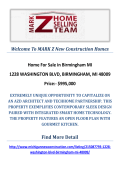 1228 WASHINGTON BLVD, BIRMINGHAM, MI 48009 : MARK Z New Construction Homes in Birmingham MI