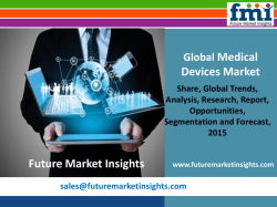 Global Medical Devices Market: Industry Analysis, Trend and Growth, 2015 - 2025 by Future Market Insights