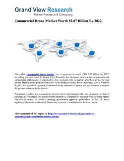 Commercial Drone Market Forecast Report To 2022