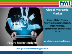 Microgrid Market Growth and Forecast, 2014-2020 by Future Market Insights