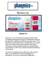 Pharmics, Inc.: Liquid Iron Supplement