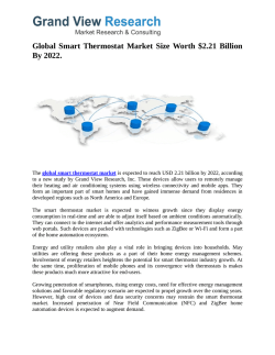 Smart Thermostat Market Growth Industry Trends To 2022