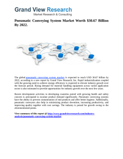 Pneumatic Conveying System Market Forecast up to 2022