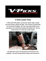 Electric Guitar Pick By V-Picks Guitar Picks