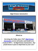 High Octane Automotive: Auto repair Northridge
