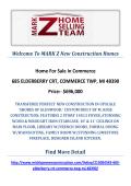 685 ELDERBERRY CRT, COMMERCE TWP, MI 48390 : MARK Z New Construction Homes Commerce