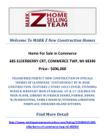 685 ELDERBERRY CRT, COMMERCE TWP, MI 48390 : MARK Z New Construction Homes Commerce