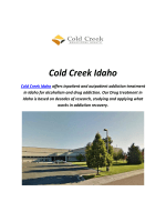 Treatment Centers By Cold Creek Idaho (208-258-9056)