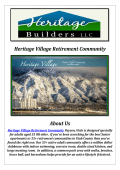 Heritage Village Retirement Community: Retirement Community Utah