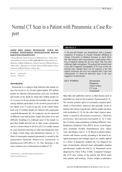 Normal CT Scan in a Patient with Pneumonia: a Case Report