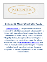 Mizner Residential Realty Delray Beach MLS Listings