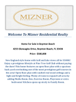 4253 Gleneagles Drive, Boynton Beach, FL 33436 : Boynton Beach Homes for Sale by Mizner Residential Realty