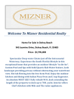 943 Jasmine Drive, Delray Beach, FL 33483 : Delray Beach Waterfront by Mizner Residential Realty