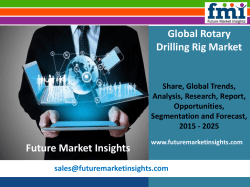 Rotary Drilling Rig Market: Industry Analysis, Trend and Forecast, 2015-2025 by Future Market Insights