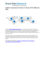 Unified Communication Market Forecast up to 2020
