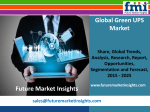 Green UPS Market: Global Industry Analysis and Forecast Till 2025 by Future Market Insights