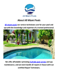 Surfside Pool Service By All Miami Pools