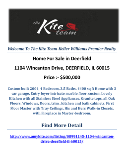 1104 Wincanton Drive, DEERFIELD, IL 60015 Deerfield Homes For Sale by The Kite Team-Keller Williams Premier Realty