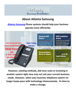 Atlanta Samsung : Voip Phones Atlanta