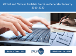 Global and Chinese Portable Premium Generator Market Size, Analysis, Share, Growth, Trends 2010-2020
