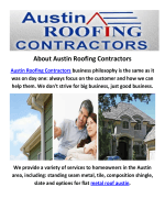Austin Roofing Contractors : Metal Roof in Austin