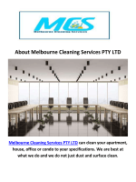 Melbourne Cleaning Services PTY LTD : House Cleaning in Melbourne